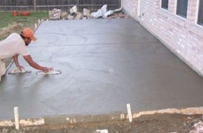 Как залить площадку бетоном?