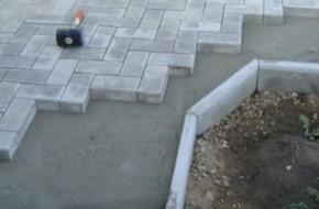 Как уложить тротуарную плитку на бетонное основание