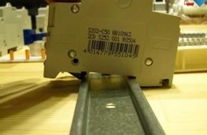 Установка автоматического выключателя в щиток
