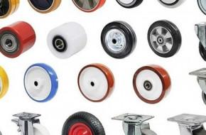 Виды колес и роликов для складской техники и тележек