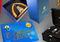 Виды подарочной упаковки с логотипом компании