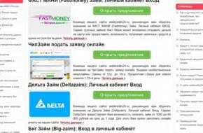 Какие есть займы онлайн на карту