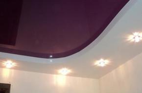 Какие бывают двухуровневые натяжные потолки и как их монтируют