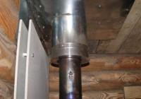 Установка и подключение вытяжного вентилятора для дымохода бани