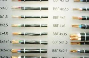 Виды и характеристики кабеля ВВГ и сфера его применения