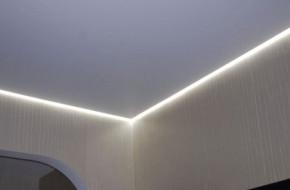 Что такое парящий натяжной потолок и как его делают