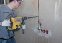 Чем штробить бетон под электропроводку?