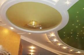 Как сделать двухуровневый натяжной потолок?