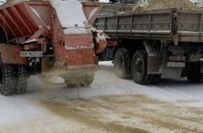 Песок в качестве противогололедного средства