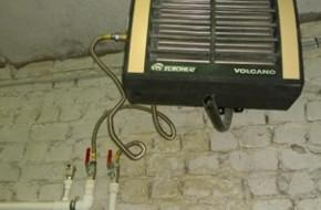 Как установить водяной тепловентилятор