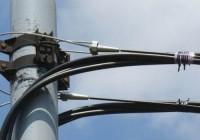 Прокладка кабеля на стальном канате (тросе)